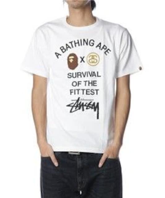 †APE×STUSSYコラボレーションTシャツ††  < ブランドの