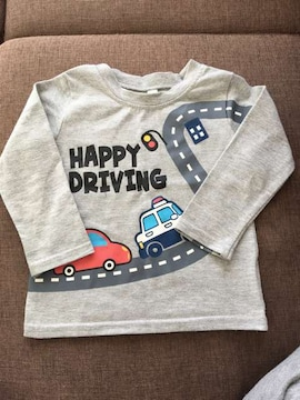 HAPPY DRIVING☆車☆ロンT☆90cm
