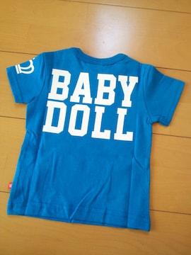 新品ロゴTシャツ80青ベビドBABYDOLLベビードール