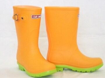 チシルチシル CI-01 オレンジ 21.0cm レインブーツ 長靴 軽量