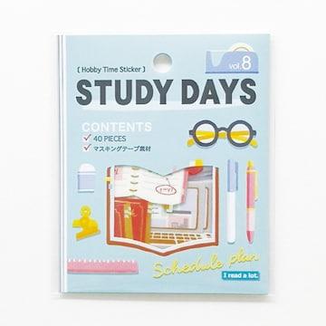 ★フレークシール★Hobby Time☆STUDY DAYS★40ピース