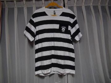 KTMのTシャツ マリンルック(XL) 白で黒のマリン柄!。