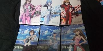 エヴァンゲリオン★クリアファイル◆全6種セット■ローソン限定オリジナル