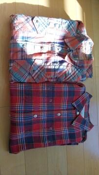 新品シャツ【LL.XL】チェックシャツ