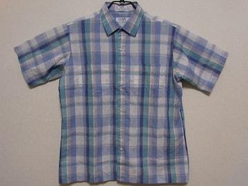 即決USA古着●ARROW SPORTチェックデザイン半袖シャツ!アメカジ・ビンテージ