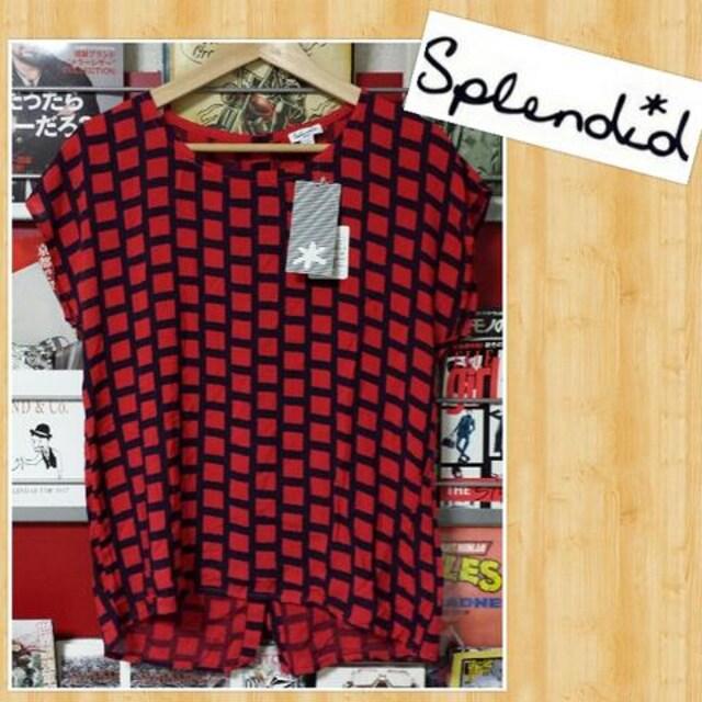 Splendid スプレンディッド レーヨンブラウス 新品タグ付き S  < 女性ファッションの