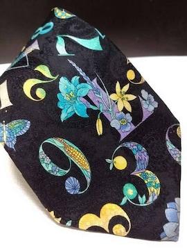 即決 送料無料 レオナール 全面数字柄 イタリア製 ネクタイ