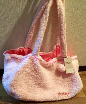 ハニーサロン☆新品☆ピンクもこもこバッグ