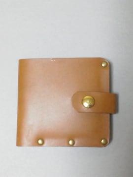新品>ハンドメイド>cash less>マチの小さい革の二つ折り財布 !