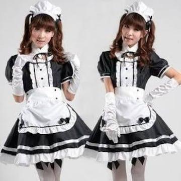 黒 サイズXL メイド服 コスチューム レディース XL サイズ