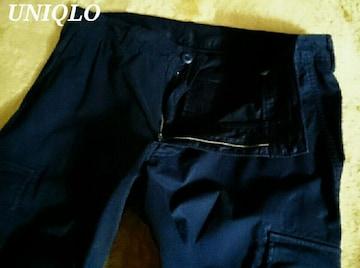 【UNIQLO】ユニクロ リラックスフィット ミリタリーカーゴパンツ (88〜92�p)/Navy