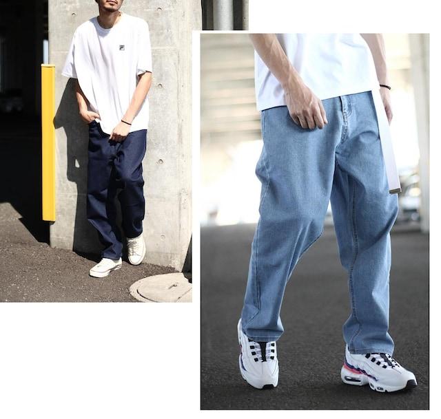 絶対的な人気!!ワイドテーパードパンツ7色【S-XL】 < 男性ファッションの