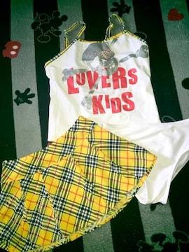 #LOVERS KIDS#水着3点セット160  ラバーズスカル