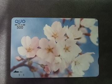 500円 QUOカード クオカード 未使用 桜 ソメイヨシノ