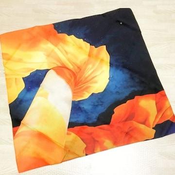 【NEW】グラフィック風呂敷/オレンジ×ブルー/中巾サイズ