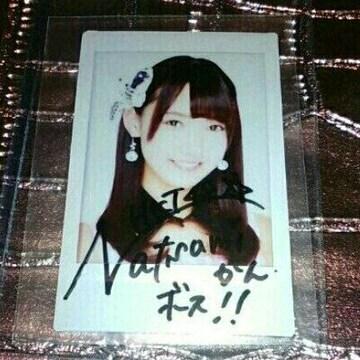 本物 HKT48 田中奈津美 直筆 サイン チェキ 生ポラ 生写真 肉筆