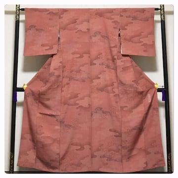 美品 伝統工芸師 六谷博臣作 高級呉服 極上 逸品 正絹 小紋 袷