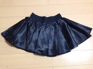 ワンスポ★未使用!ドットスカート(パンツ内蔵)