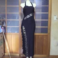 WINK WINKレース・ストーン ホルターロングドレス