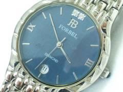 9128/FORBEL定価6万円位ダイヤモンド付きモデルメンズ腕時計格安