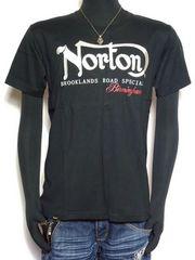 新品正規Nortonノートンロゴ刺繍Tシャツインパクトあり!