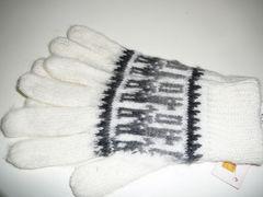アルパカ ニット手袋白