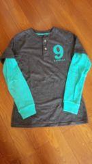GAP*レイヤード風 ロングTシャツ 袖サーマル*160