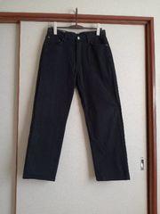 中古EDWINエドウィンインターナショナルベーシックブラックデニムジーンズ33インチW83H100