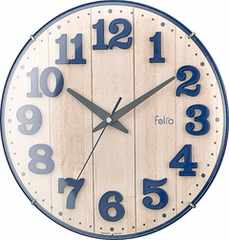 Felio 置き時計・掛け時計 ネイビー