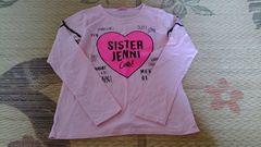 JENNIロゴロングTシャツ150ピンク