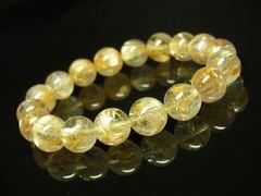 おすすめ タイチンルチル10ミリ数珠ブレスレット 金針水晶天然石