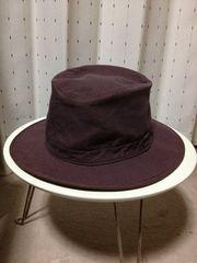アニエスベー コットンハット 帽子 茶 56cm フランス製 CA4LA クルーハット ユーズド加工