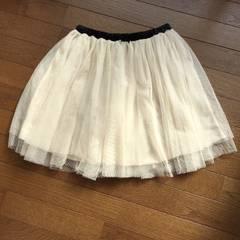 しまむら チュール スカート N2m Mサイズ オフホワイト