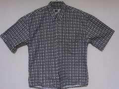 即決USA古着●鮮やか総柄デザイン半袖シャツ!アメカジビンテージレア