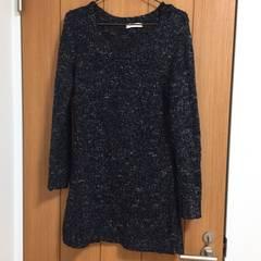 ニットワンピースLサイズ/チュニック/セーター