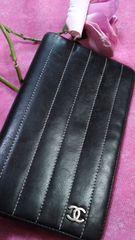 正規品人気のブラックCHANELニューマドモアゼル長財布