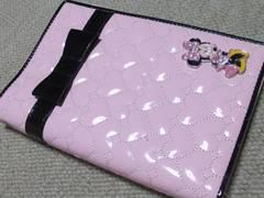 ミニーマウス*ハート型キルティング*システム手帳(ピンク)