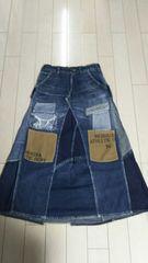デニム&ダンガリー ダメージスカート size160�p �@