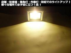 12v24v兼用10w-LED投光器(水銀灯換算100w級)/電球色/作業灯 照明