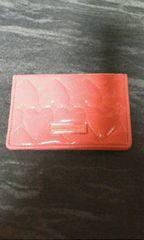 サマンサタバサピンクハート柄カードケース兼パスカードケース