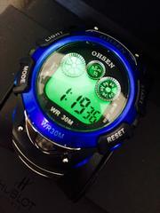 輸入時計♪人気の青色★メンズLEDデジタル腕時計Ohsen