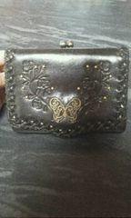アナスイ革製ガマ口2つ折り財布