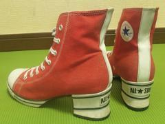 80'sオールド¶converse[コンバース]★オールスター・ヒールスニーカー/送料\390〜