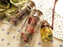 ハンドメイド材料やインテリアにドライフラワー小瓶3個セットまとめ売り福袋
