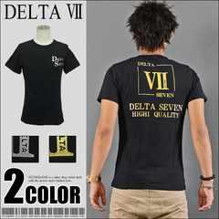 メール便送料無料【DELTA】Tシャツ70642新品黒金L