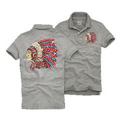 送料無料 カリホリ ポロシャツ メンズ グレー 170033 Msize 新品