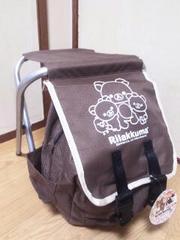 Rilakkuma/リラックマ腰掛付きリュック☆耐荷重:約70�sブラウン