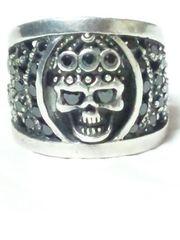 【Skull】SILVER 925 石 ストーン スカル リング 14.5号