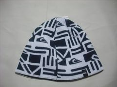 mb712 男 QUIKSILVER クイックシルバー ニット帽 ビーニー 柄