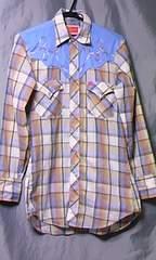 アメリカ 古着 チェック ウエスタンシャツ 141/2 ELY PLAINS